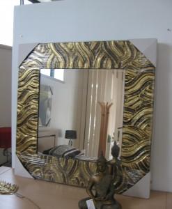 Espelho Quad.Dourado